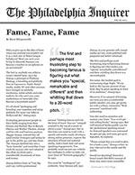 Fame, Fame, Fame