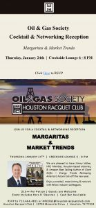 Houston Racquet Club - Oil & Gas Society Event Poster
